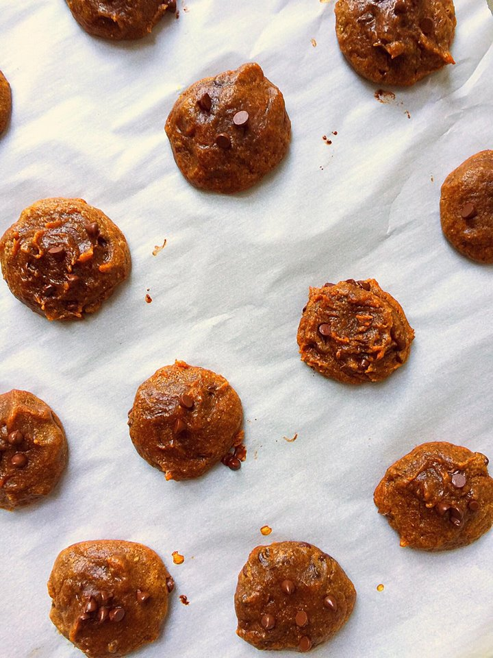 Flourless Vegan Pumpkin Almond Butter Cookies | Whisk and Shout