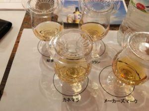 4 glasses whiskey