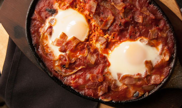 Simple Shakuska with Bacon-10