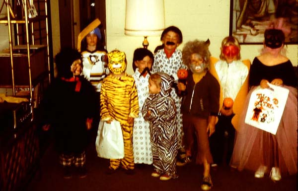 Foss Family Halloween Party, Los Angeles 1972