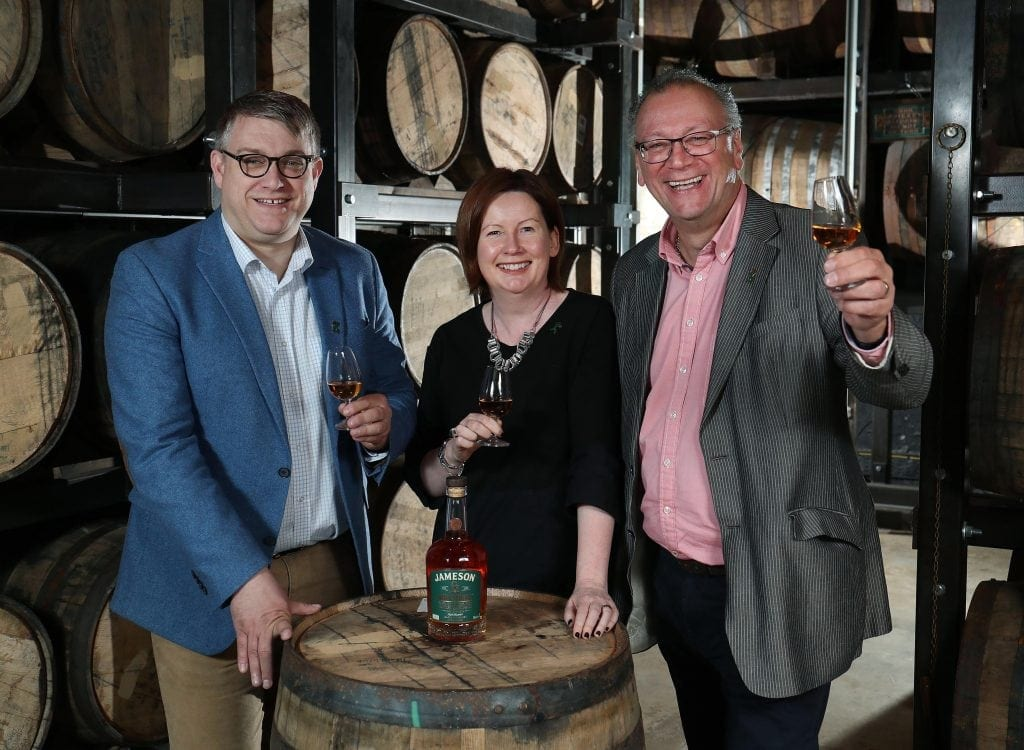 Billy Leighton, Carol Quinn, Brian Nation Jameson Bow Street 18 Years Cask Strength Irish Whiskey