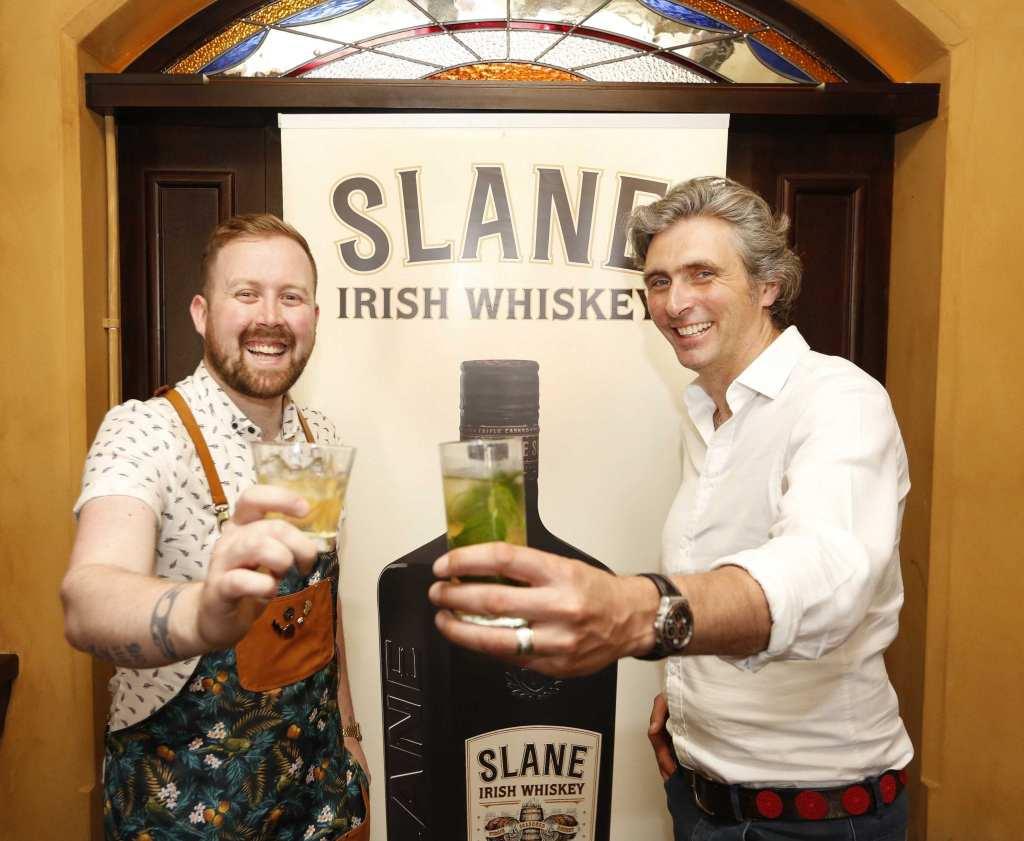Slane Whiskey Director Alex Coyningham and Slane Whiskey Irish Brand Ambassador Will Lynch launch the Slane Whiskey Tasting Tour at the Irish Whiskey Museum Dublin.