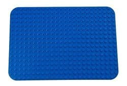 "Premium Blue Base Plate - 15"" x 10.5"" Baseplate (LEGO® DUPLO® Compatible) - Large Pegs Only"