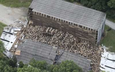 Collapse at the Barton whiskey distillery, KY, June 23 2018