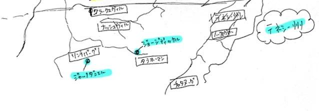アメリカンウイスキーのテネシー州にある蒸溜所map