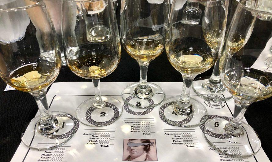"""Tasting Notes from Kindred Spirits' """"Blind Blended Whiskies"""" Tasting (January 9, 2019)."""