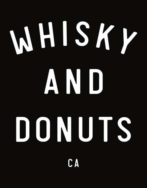 Handprinted Tee - Whisky and Donuts - WhiskyAndDonuts.com