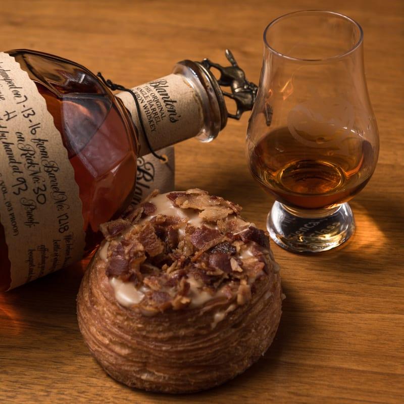 Blantons Single Barrel   Maple Bacon Cronut - Whisky And Donuts - WhiskyAndDonuts.com