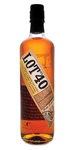 Lot No. 40 Canadian Whisky. Image courtesy Corby Spirit & Wine.
