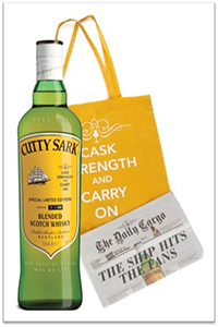 "Cutty Sark's ""Cask Strength and Carry On"" release produced with Caskstrength.net and Master of Malt."
