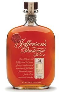Jefferson's Presidential Select 21. Image courtesy Castle Brands/McLain & Kyne.