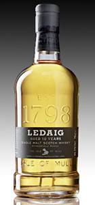 Ledaig 10 Single Malt Scotch Whisky. Image courtesy Burn Stewart Distillers.