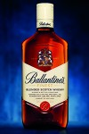 The new bottle and label for Ballantine's Finest. Image courtesy Chivas Brothers.