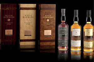 The Bowmore Trilogy series that went for £16,250 at Bonhams on February 26, 2014. Image courtesy Bonhams.