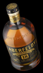 The new Aberfeldy 18-year-old single malt. Image courtesy Dewar's.