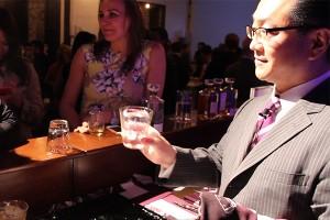 Hidetsugu Ueno of Tokyo's Bar High Five. Photo ©2014 by Mark Gillespie.