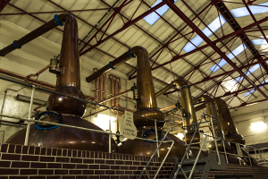 The stills at Diageo's Mortlach Distillery in Speyside. Photo ©2013 by Mark Gillespie.