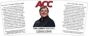 The label for a commemorative Maker's Mark bottle honoring University of Louisville athletic director Tom Jurich. Image courtesy Maker's Mark/TTBOnline.gov.