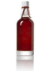 This Yamazaki 50-year-old whisky brought a high bid of $33,190 at Bonhams in Hong Kong August 15, 2014. Image courtesy Bonhams.