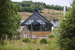 The new Dalmunach Distillery in Carron, Scotland. Photo courtesy Chivas Brothers.
