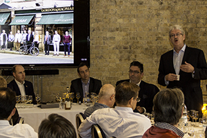 Michael Urquhart of Gordon & MacPhail introduces the new Private Collection malts during a master class at The Whisky Show London October 4, 2014. Photo ©2014 by Mark Gillespie.