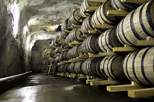 One of Mackmyra's warehouses in a former mine 50 metres underground. Photo ©2014 by Mark Gillespie.