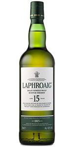 Laphroaig 15 Year Old Islay Single Malt Scotch Whisky. Image courtesy Laphroaig/Beam Suntory.