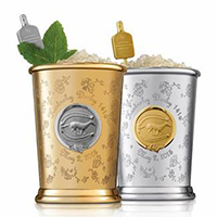 The Woodford Reserve 2015 Mint Julep Cups. Image courtesy Woodford Reserve.