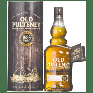 Old Pulteney 1989 Vintage Single Malt Scotch Whisky. Image courtesy Old Pulteney/International Beverage.