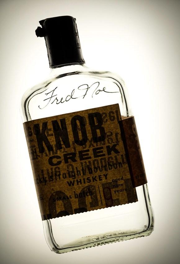 A Knob Creek display bottle signed by Beam master distiller Fred Noe. Photo ©2016, Mark Gillespie, CaskStrength Media.