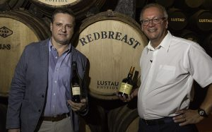 Bodegas Lustau winemaker Sergio Martinez (L) and Midleton Master Blender Billy Leighton at the launch event for Redbreast Lustau Edition. Photo ©2016, Mark Gillespie, CaskStrength Media.