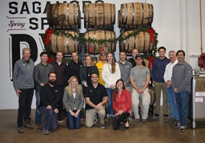 The Sagamore Spirit team poses for a holiday photo. Image courtesy Sagamore Spirit.