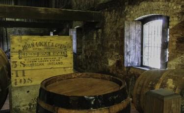 A display at the Kilbeggan Whiskey Experience at Ireland's Kilbeggan Distillery. Photo ©2013, Mark Gillespie/CaskStrength Media.