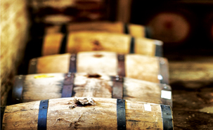 Barrels of maturing whisky at Australia's Nant Distillery. Image courtesy Nant Distillery.