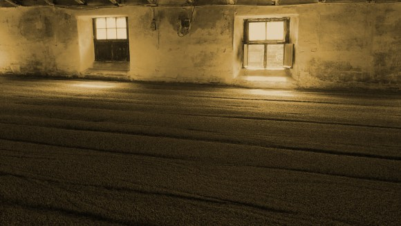 A malting floor at Scotland's Highland Park Distillery. Photo ©2017, Mark Gillespie/CaskStrength Media.