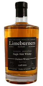 Limeburners Darkest Winter. Image courtesy Great Southern Distillery.