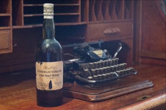 A vintage bottle of Glenfarclas single malt Scotch Whisky acquired by the distillery for its archive. Image courtesy Glenfarclas.