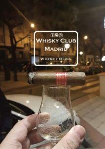 Laphroaig 18 con habano cata en el Whisky Club Madrid