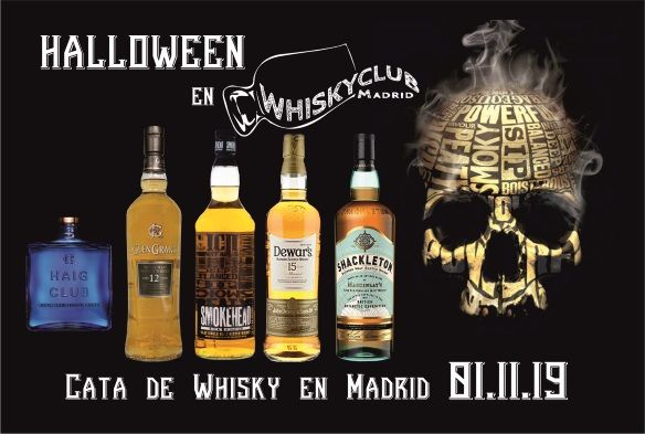 Los 5 whiskies de la cata de whisky de Halloween en Madrid