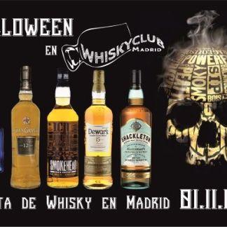 Los 5 whiskies de la cata de whisky de Halloween en Madrid