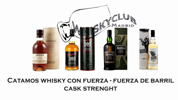 Catamos whisky con fuerza – fuerza de barril/cask strength