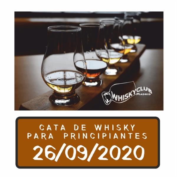CATA DE WHISKY PARA PRINCIPIANTES 26 SEPTIEMBRE 2020