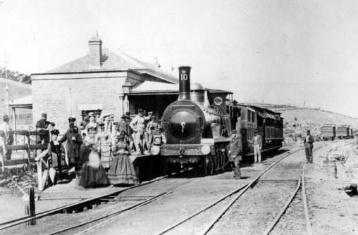 Estación de ferrocarril en 1860 en Campbeltown