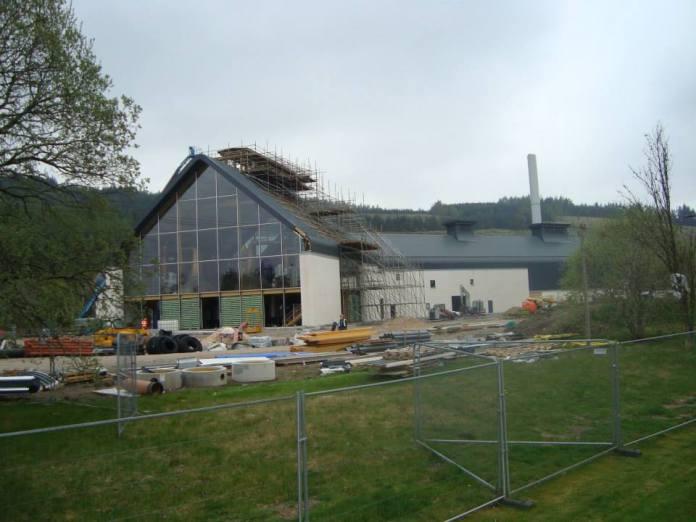 Der Bau der neuen Destillerie am Gelände der alten Imperial-Brennerei ist bereits weit fortgeschritten. Copyrights Mario Prinz.