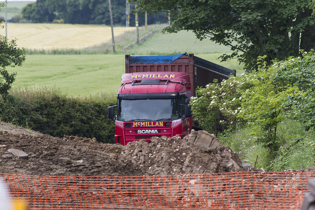 Lorry on drive