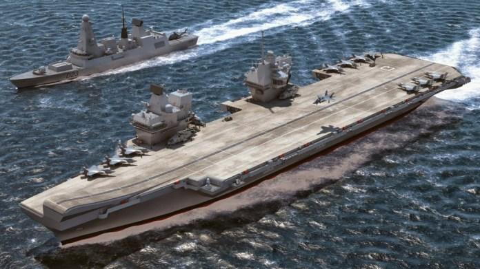 HMS Queen Elizabeth, Computermodell.