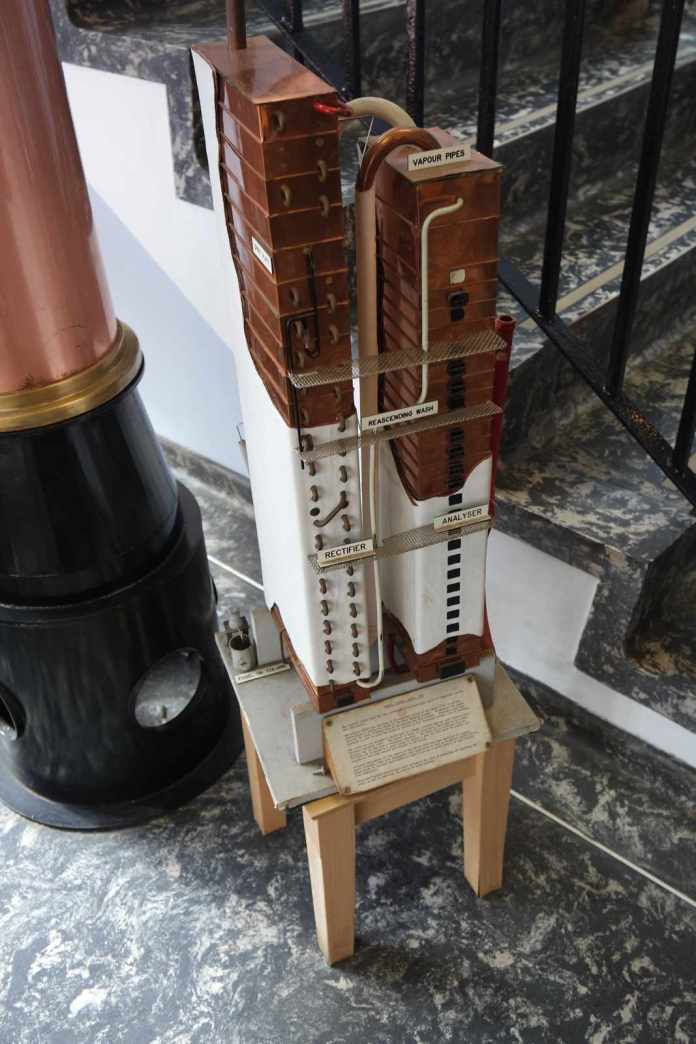 Eine Coffey Stil, wie sie in Cameronbridge verwendet wird, im Modell. Bild: Whiskyexperts