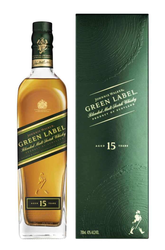 Johnnie Walker Green Label Bottle Pack Shot