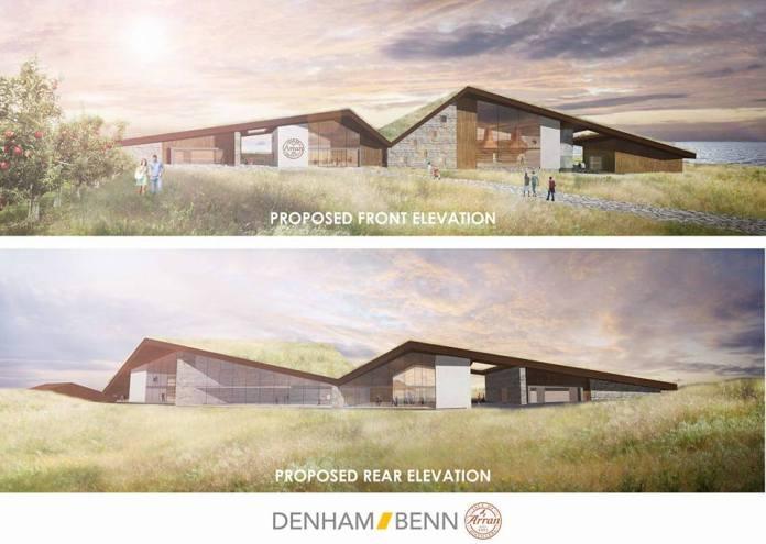So soll die neue Arran-Destillerie im Süden der Insel einmal aussehen