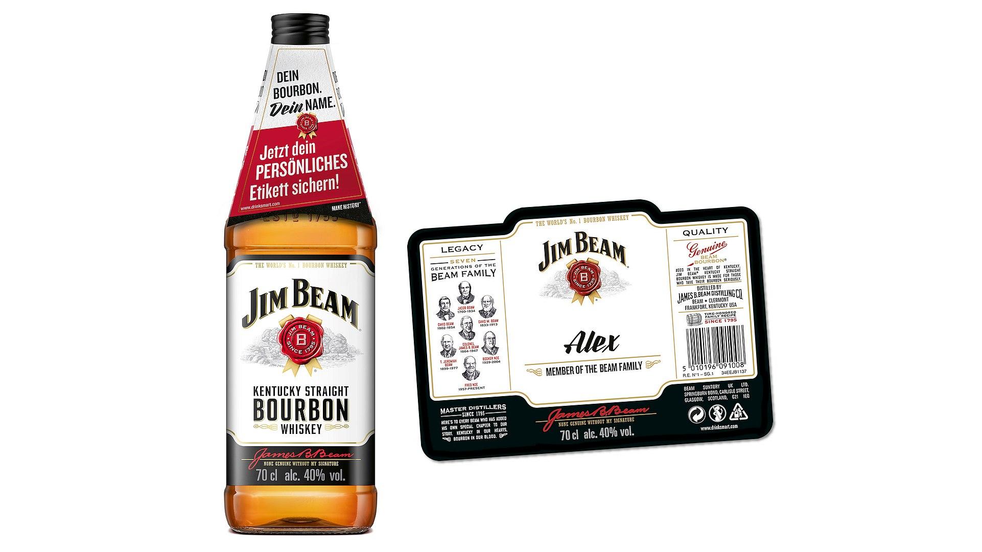 """PR: Personalisierte Etiketten für Jim Beam - """"Dein Bourbon. Dein ..."""